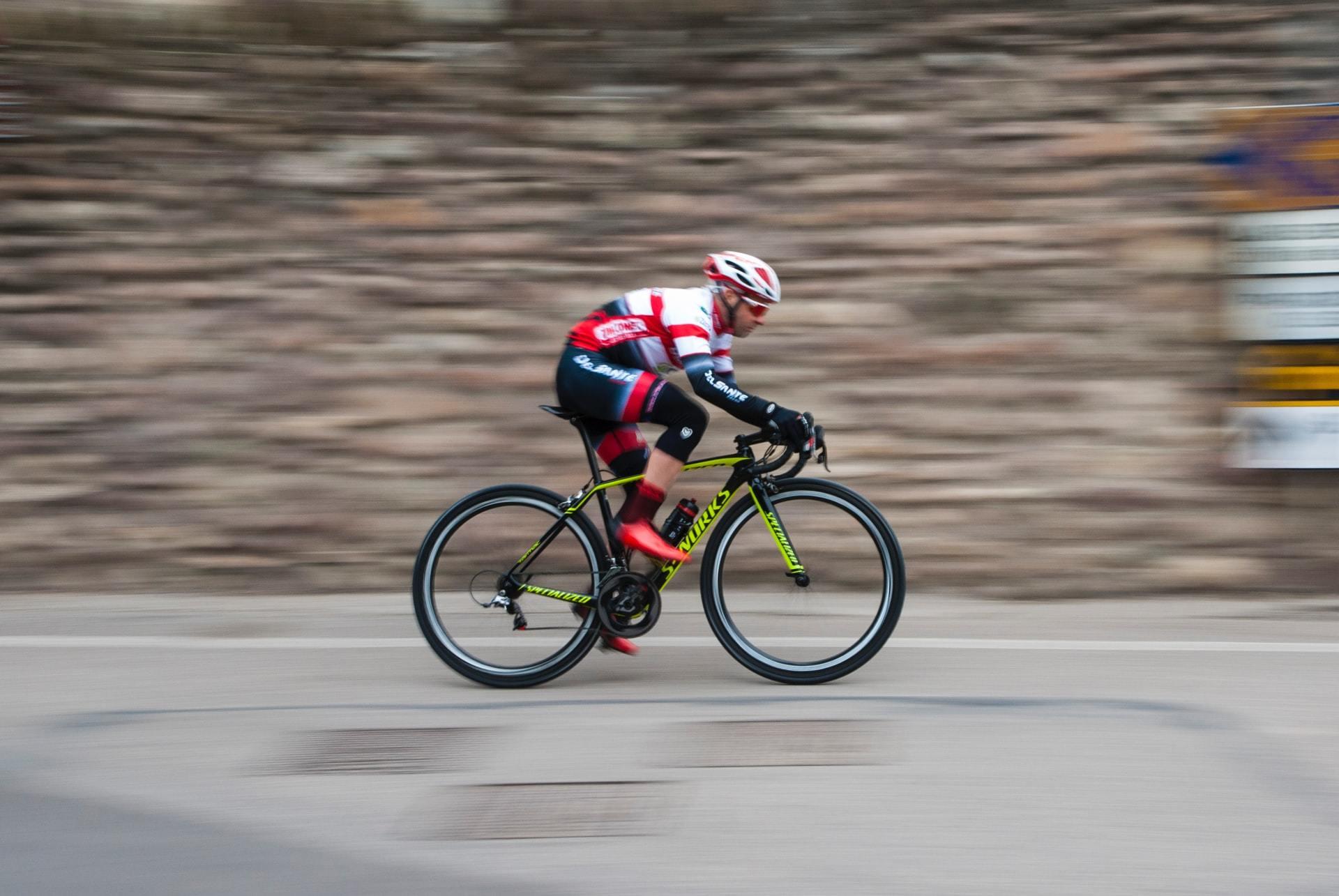 Competitive Cyclist Mountain Bike